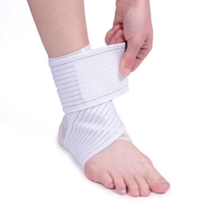 Maintien cheville double VITAEASY - Taille L - 2 bandes élastiques (40 x 8 cm) - Fermeture autoagrippante