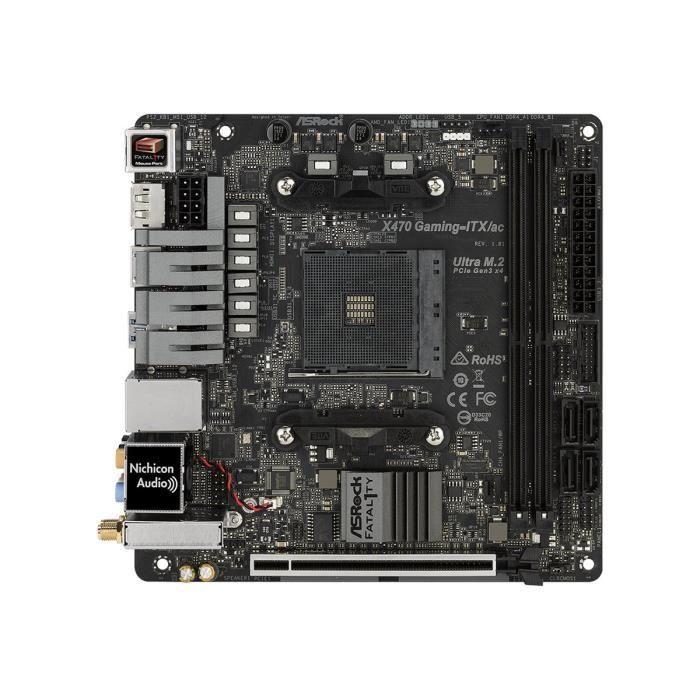 CARTE MÈRE ASRock Fatal1ty X470 Gaming-ITX-ac Carte-mère mini
