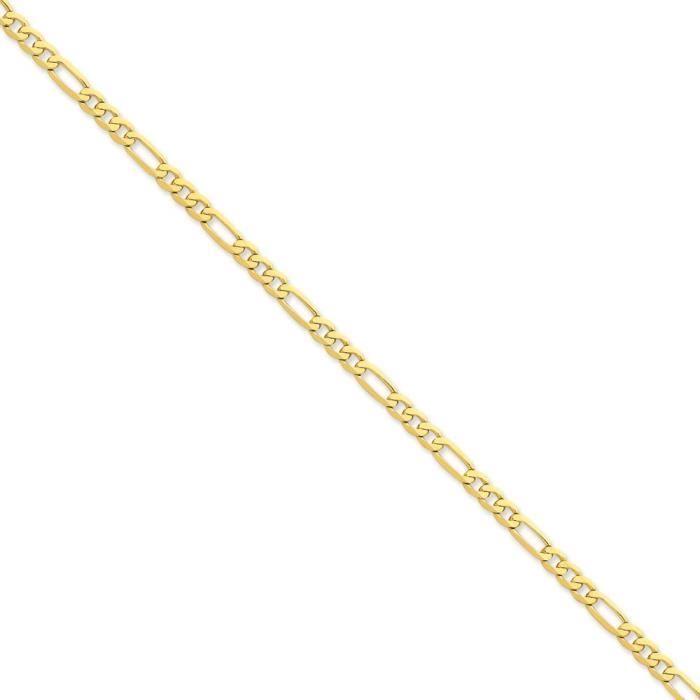 4,7 carats 14 mm plat Figaro chaîne collier - 24 cm-pince de homard