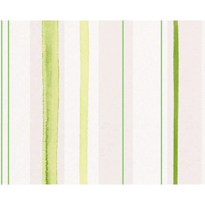 Papier Peint Aquarelle 10 05 M X 0 53 M Vert Achat Vente