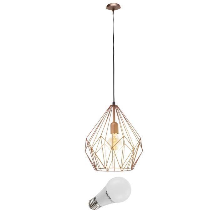 Design Watts Salle Luminaire Vintage Éclairage 7 À Suspension Lampe Led Couloir Manger KlFJT13c