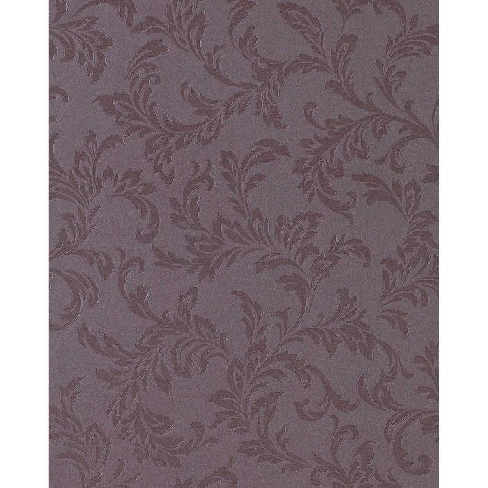 Papier peint motif floral EDEM 762-26 ton-sur-ton gris foncé gris ...