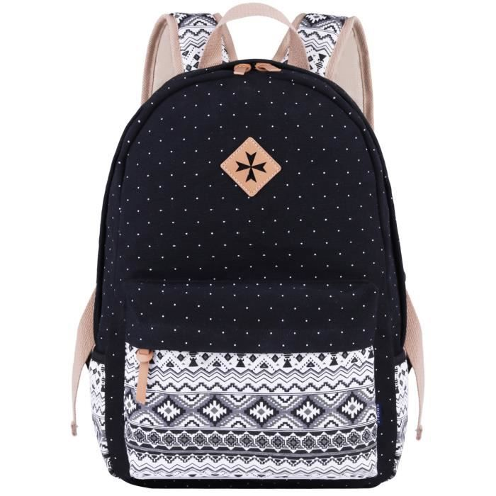 De Cartable Coofit Femme Voyage College Toile Sac Dos xYYarqBWw5