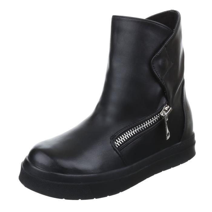 femme bottine chaussure semelle à talon compensé Bootschaussures décontractées