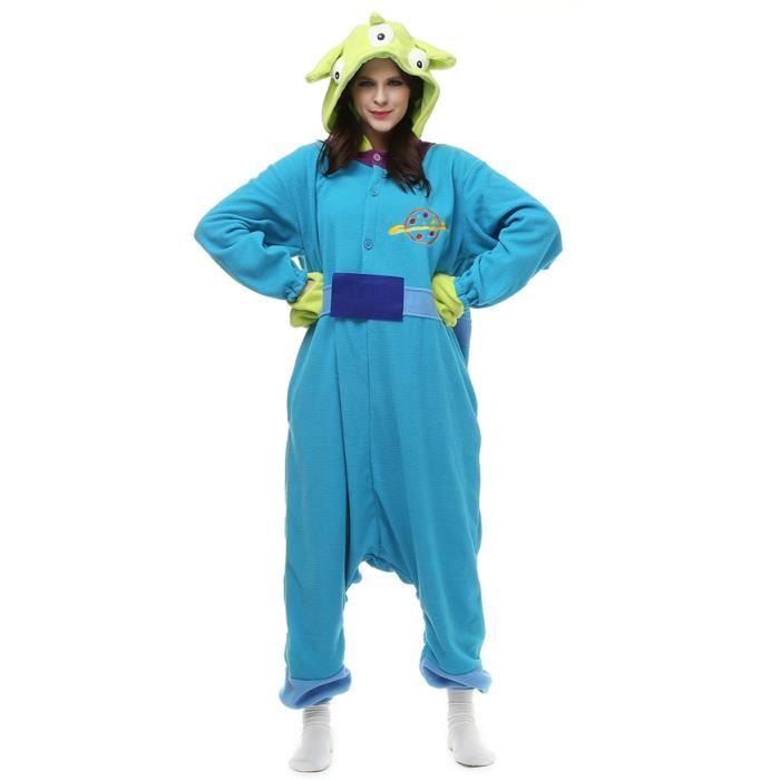 Bleu Femme Kigurumi Pyjama Hiver s fz060bleu Animé Monstre Adulte Homme Cosplay Bjyg qg50C7Ox