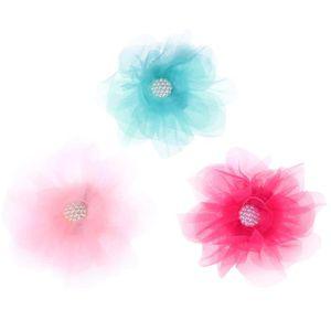 TATOO - BIJOU DE CORPS 3PC Épingles À Cheveux En Mousseline De Soie Fleur