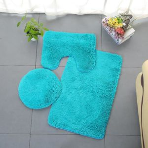 SET ACCESSOIRES 3pc Set de salle de bain Tapis Contour Mat Couverc