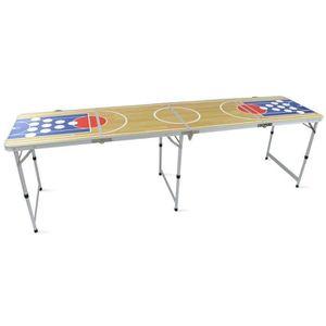 TABLE MULTI-JEUX Table pliante de Beer pong