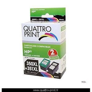 CARTOUCHE IMPRIMANTE Pack 2 cartouches d'encre compatible HP 350XL / 35