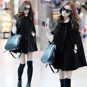 CAPE cape veste Femmes charme Casual hiver manteau mant