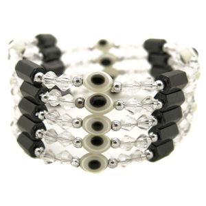 BRACELET - GOURMETTE bracelet collier magnetique aimant femme transpare