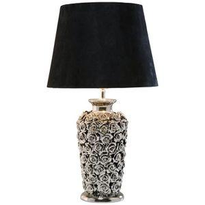 LAMPE A POSER Kare Design Lampe À Poser en Métal Argenté Pied Fl