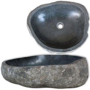 LAVABO - VASQUE Lavabo en pierre de rivière Vasque à Poser Ovale 4