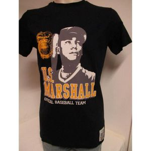 T-SHIRT US MARSHALL HOMME T-SHIRTS NOIR TAILLE W/S /US28
