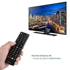 TÉLÉCOMMANDE TV Télécommande de remplacement ABS pour LG TV LCD AK