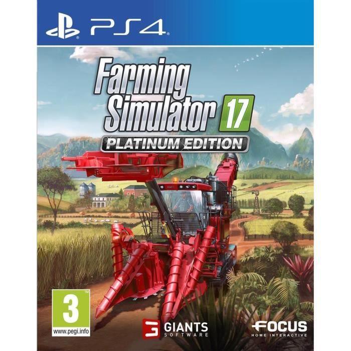 farming simulator 17 edition platinium jeu ps4 achat vente jeu ps4 farming simulator. Black Bedroom Furniture Sets. Home Design Ideas