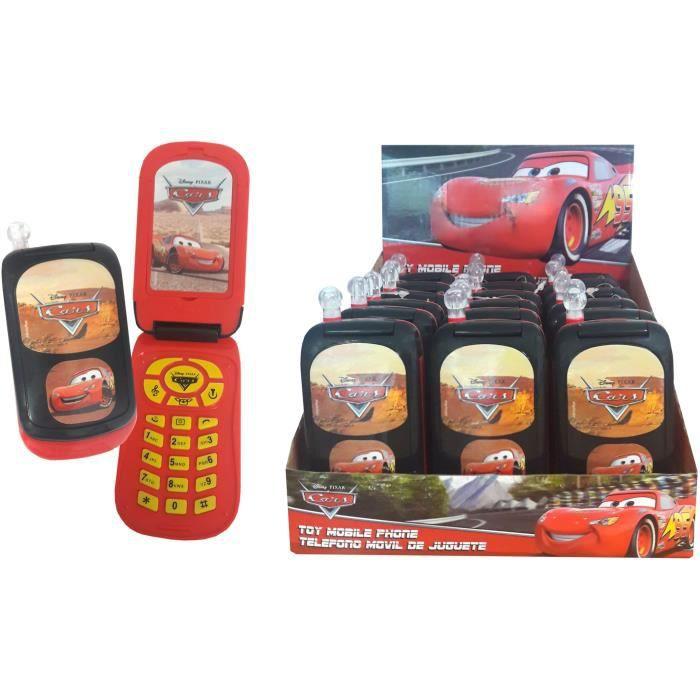 CARS Téléphone Grand Modèle A Clapet Sonores