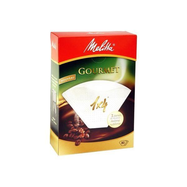 MELITTA 80 filtres à café Gourmet 1x4
