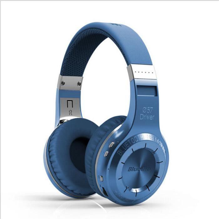 Ecouteur Bluetooth Sans Fil Écouteurs Casque Stéréo Audifonos Avec Mic Pour Bleu