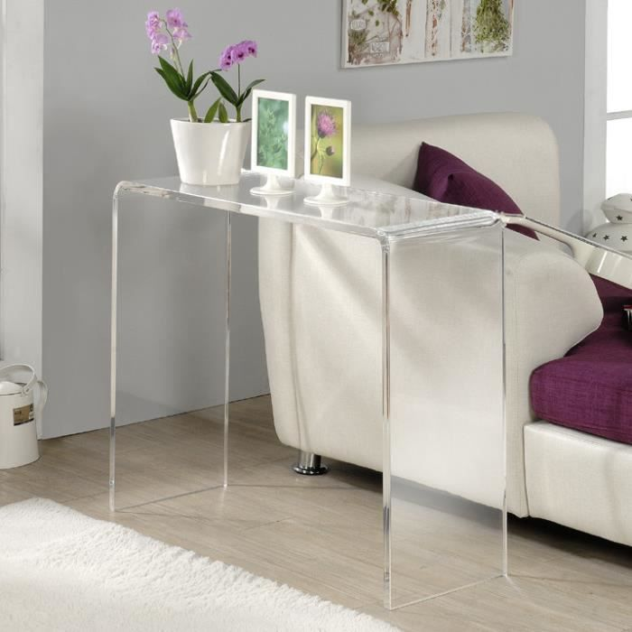 table console en verre achat vente pas cher. Black Bedroom Furniture Sets. Home Design Ideas