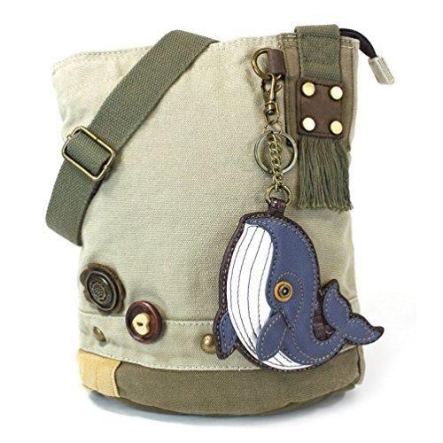 Patch Messenger sac à main bandoulière baleine en toile de coton sable GPRQ9