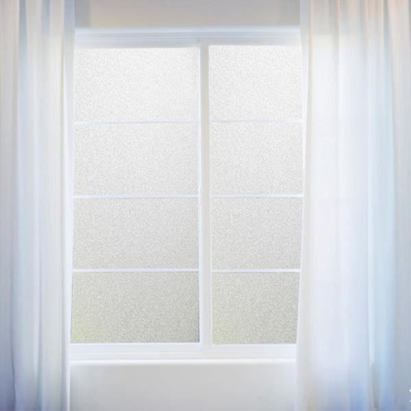 pvc salle bains film fenêtre verre autocollant accueil ... - Fenetre Salle De Bain Pvc