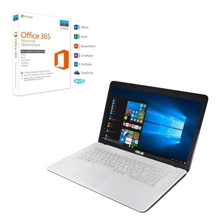 Pack ASUS PC Portable F751NA-TY018T 17,3