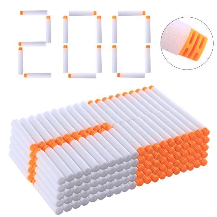 Balles Haut OrangeBlanc Douces Fléchettes 200pcs Jouet Pistolet Plate Tamponné Tête For Nerf 0OP8wnkX