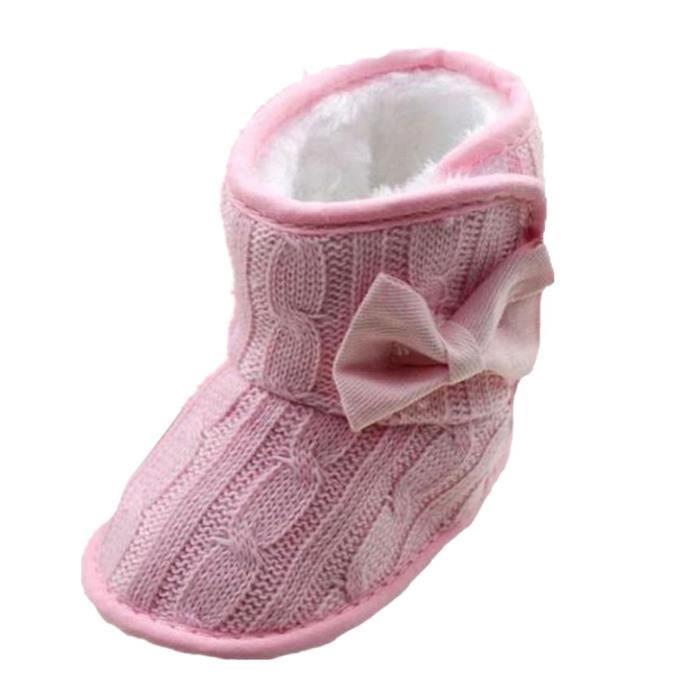 Tomwell Chaussures Hiver Pour Bébé Tricoté Bowknot Mignon Et Doux Style Semelle Souple Bottes IP9mdWclVN