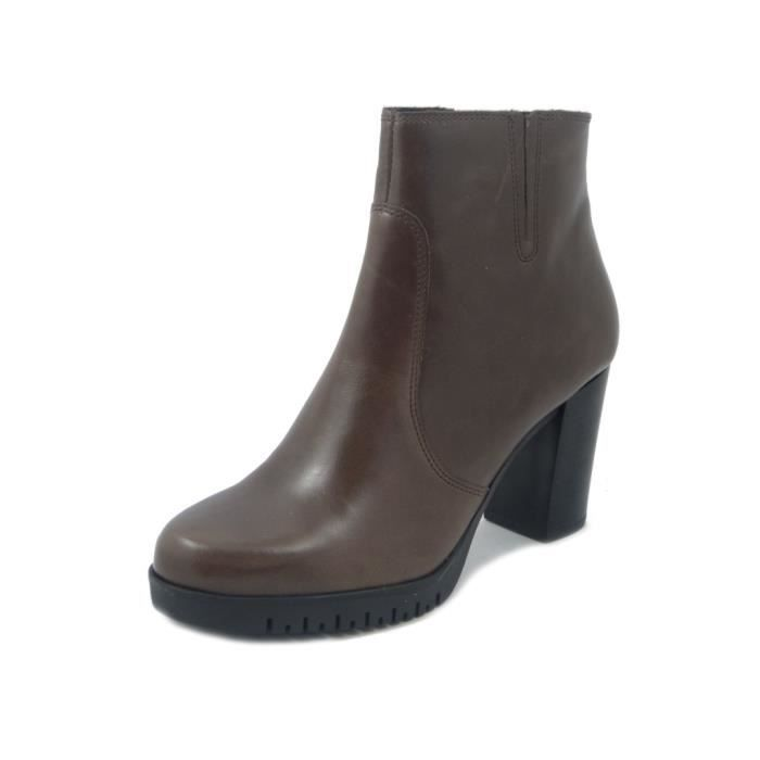 MERCANTE DI FIORI, Bottine femme, cuir marron - AG7154
