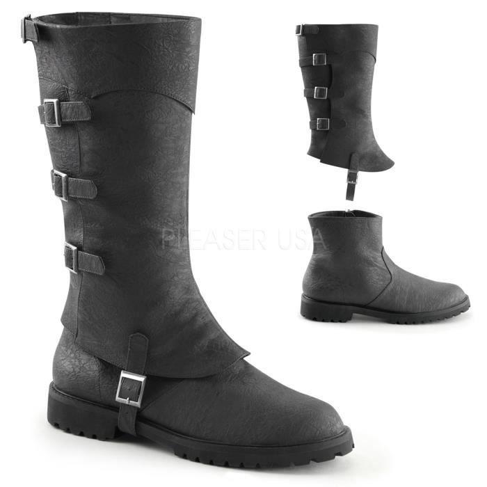 2 Flat Strap Funtasma Boot 1 High 1 Cuffed Buckled Men's 105 Inch Heel Knee GOTHAM wqfqIvY