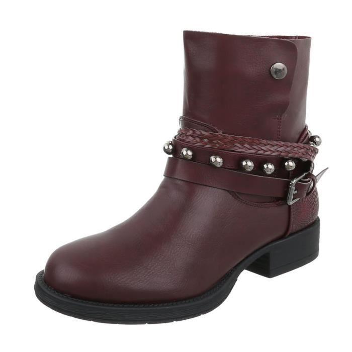 Bottines femme en cuir optic | Chelsea Boots | Bottines courtes | Bottines hautes | Used Bottines | blance Plateau semelle Bottines