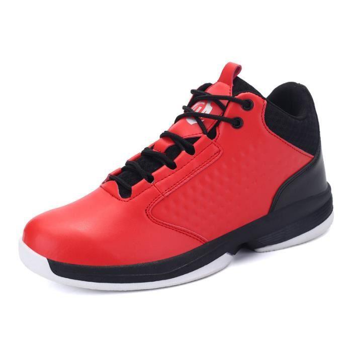 Baskets Homme Chaussure été et hiver Jogging Sport léger Respirant Chaussures BSMG-XZ223Rouge39 Bl32RDpC