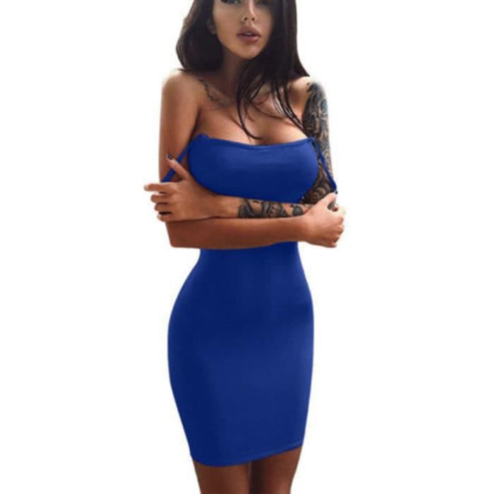 bleu Casual Manches Femmes Robe Courte Mini Solide ZtwPPTYq