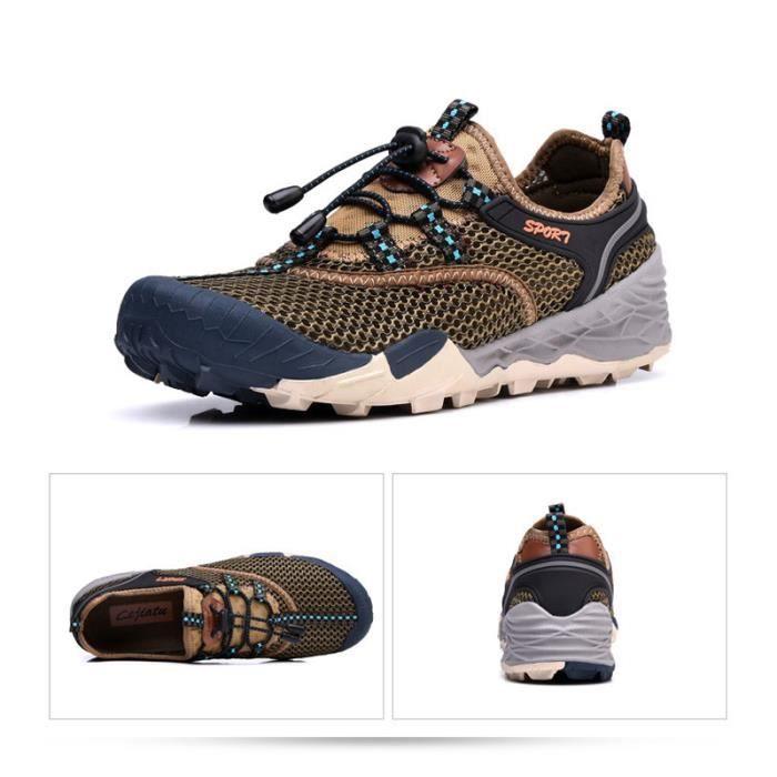 Baskets Homme Chaussure Jogging Sport léger Respirant Chaussures BGD-XZ219Vert39