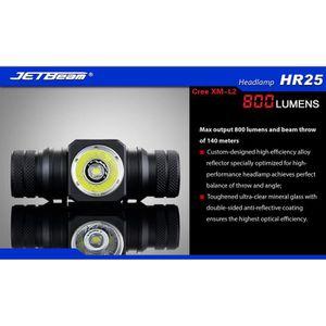 LAMPE DE POCHE JETBeam HR25 crie XM-L2 de LEDs rechargeable avec