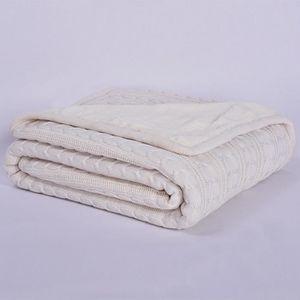 Blanc 120cm 180cm tapis épais velour super douce coverture Laine de coton  torsion serviette 43438f1ccc5