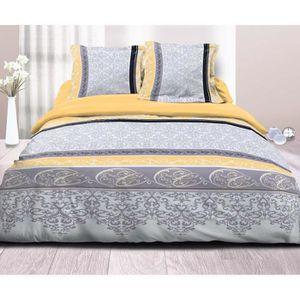 parure drap plat drap housse 2 taie d oreiller achat vente pas cher. Black Bedroom Furniture Sets. Home Design Ideas