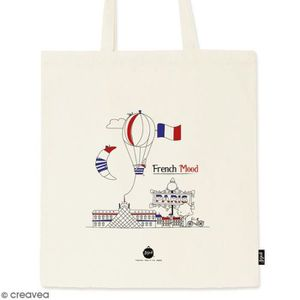 SAC SHOPPING Tote bag French Mood - Collection Cocorico - 36 x efebf1438a40