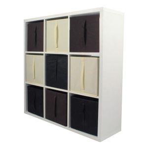 Compo Meuble De Rangement Noir.Meuble De Rangement 9 Cases