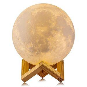 LAMPE A POSER Lampe Lune 3d Veilleuse De Chevet Contrôle Tactile
