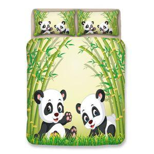 HOUSSE DE COUETTE ET TAIES Parure de Couette 3D Imprimé Panda - 1 Housse de C
