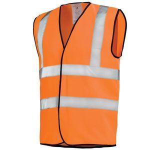 GILET Gilet de travail Hivi orange fluo haute visibilité