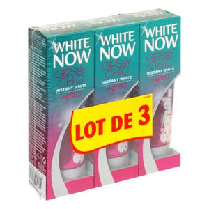 DENTIFRICE SIGNAL Dentifrice White Now Glossy - 3x50ml