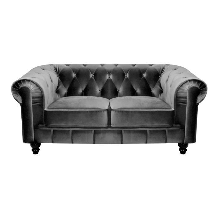 Canap chesterfield tissu achat vente canap for Canape chesterfield tissu gris