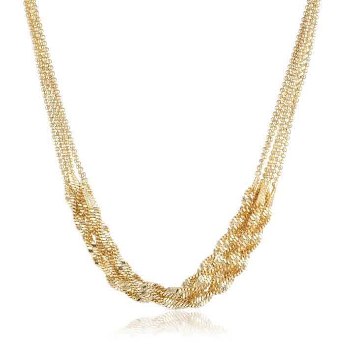 1928 Signature Gold Multi-twist Chain Necklace, 16.5 UA1VI