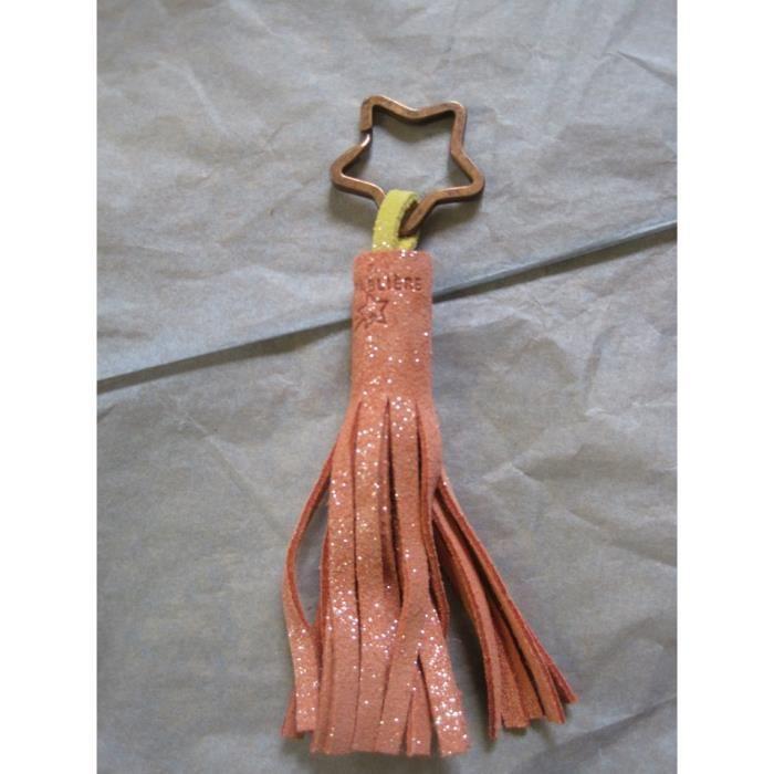 Bijoux cuir pompon