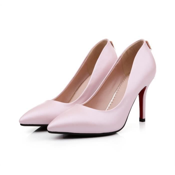 talons hauts-Pure Color High Heel Pump Stiletto...