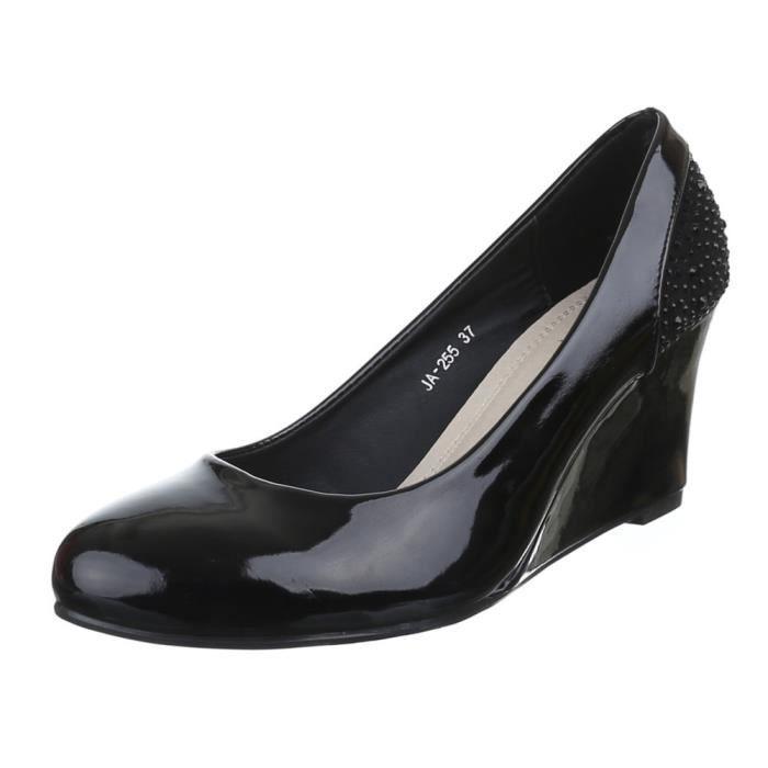 Chaussures femmes Escarpins cale cale Noir Noir - Achat   Vente ... 0339004925ad