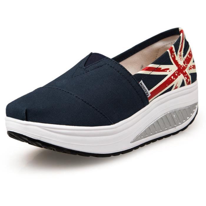 Chaussures Femme Printemps Été à fond épaiséChaussure FXG-XZ064Bleu39